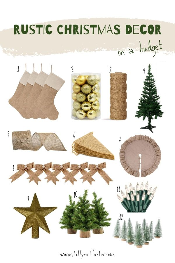 Rustic Christmas Decorations on a Budget