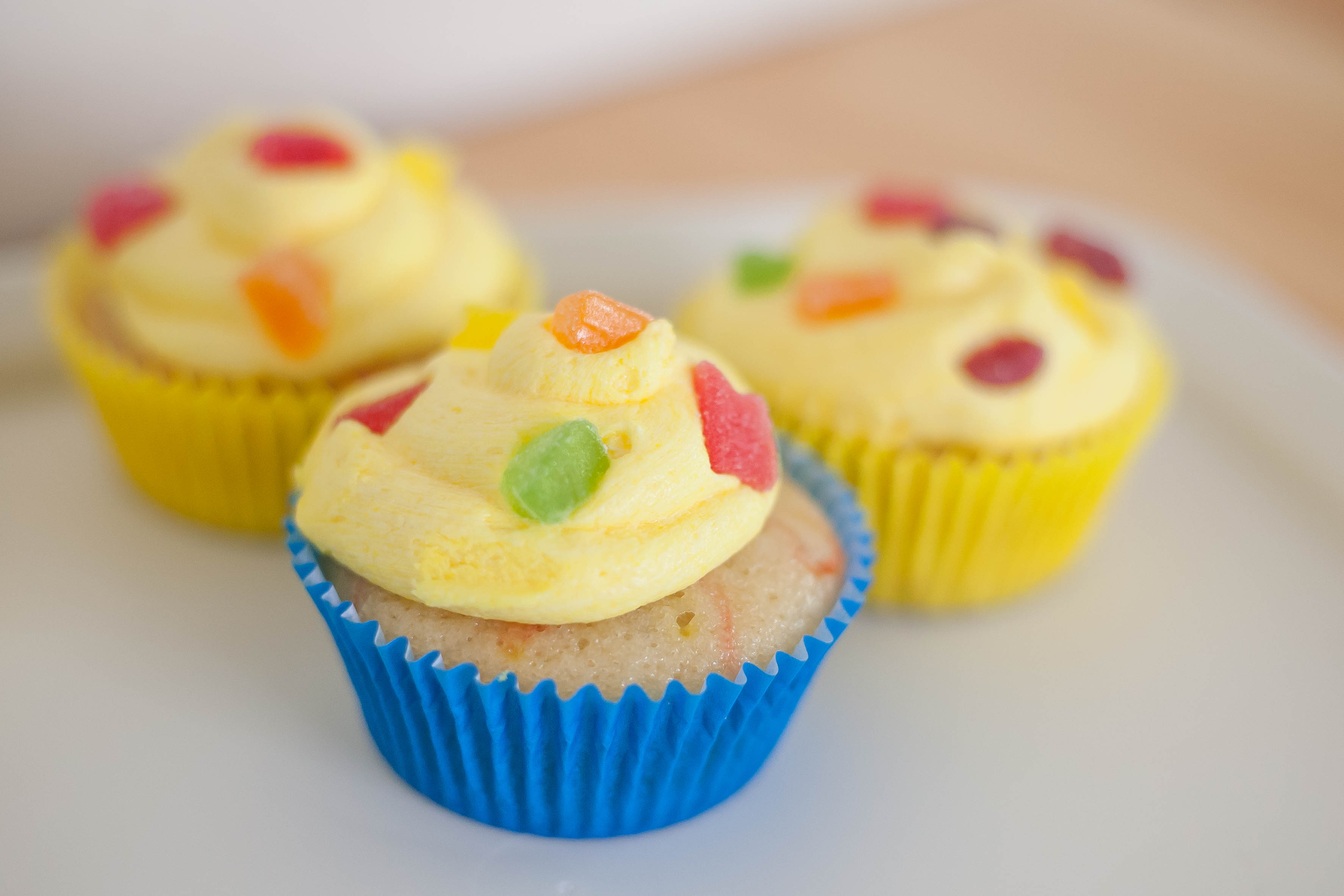My Favorite Vanilla Cupcakes with Jello Frosting